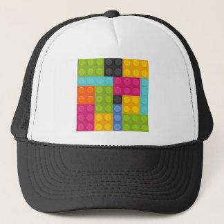 pink building blocks trucker hat