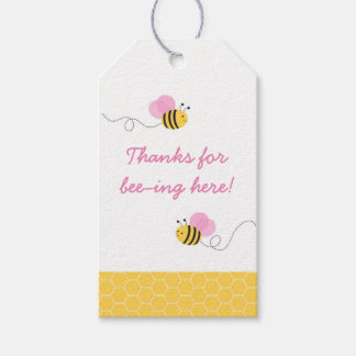 Pink Bumble Bee Baby Shower Pack Of Gift Tags