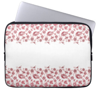 Pink Bunches of Flowers Laptop Sleeve