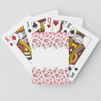 Pink Bunches of Flowers Playing Cards