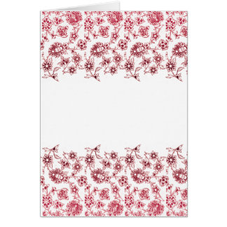 Pink Bunches of Flowers (portrait) Card