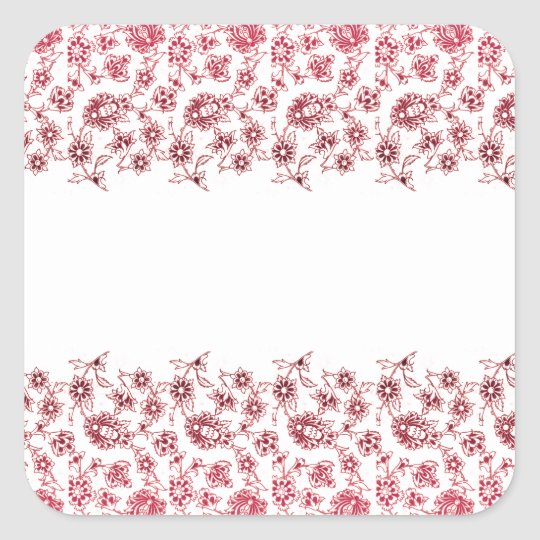 Pink Bunches of Flowers Square Sticker
