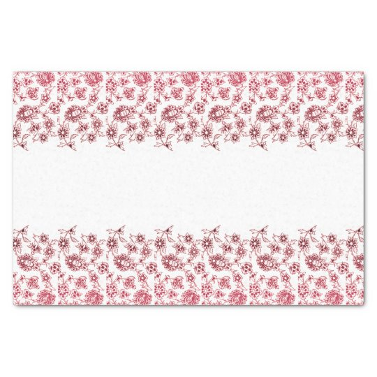 Pink Bunches of Flowers Tissue Paper