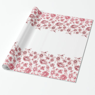 Pink Bunches of Flowers Wrapping Paper