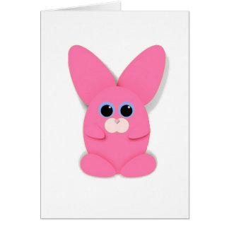 Pink Bunn Blank Card