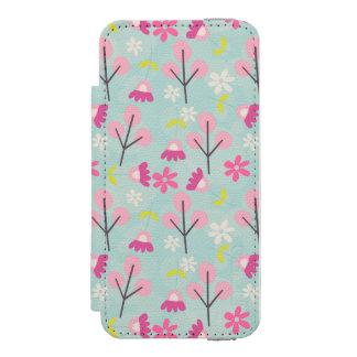 Pink Bunnies and Flowers Incipio Watson™ iPhone 5 Wallet Case