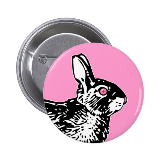 Pink Bunny 2 Inch Round Button