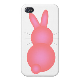 Pink Bunny Back Cases For iPhone 4