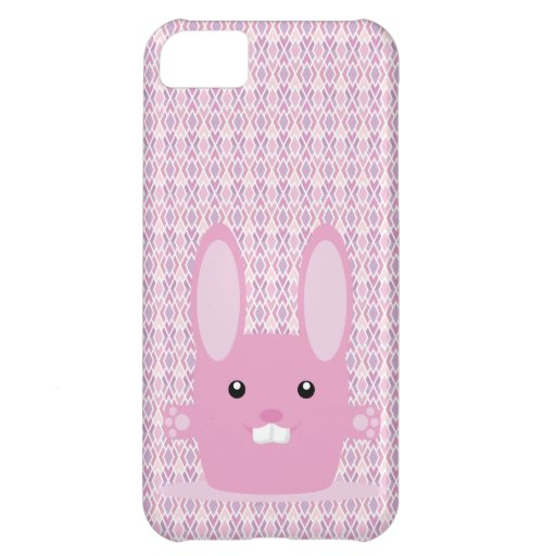 Pink bunny case for iPhone 5C