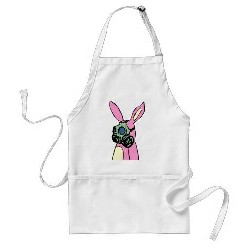 Pink Bunny Rabbit Gas Mask Aprons