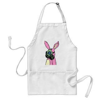 Pink Bunny Rabbit Gas Mask Standard Apron