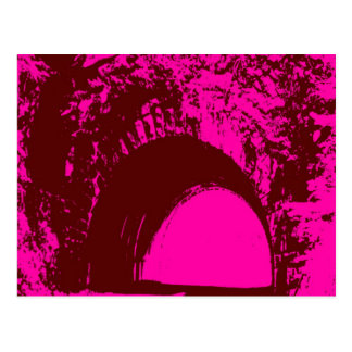 Pink/Burgundy Tunnel Postcard