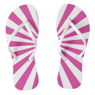 Pink Burst Flip Flops