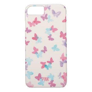 pink butterflies iPhone 8/7 case