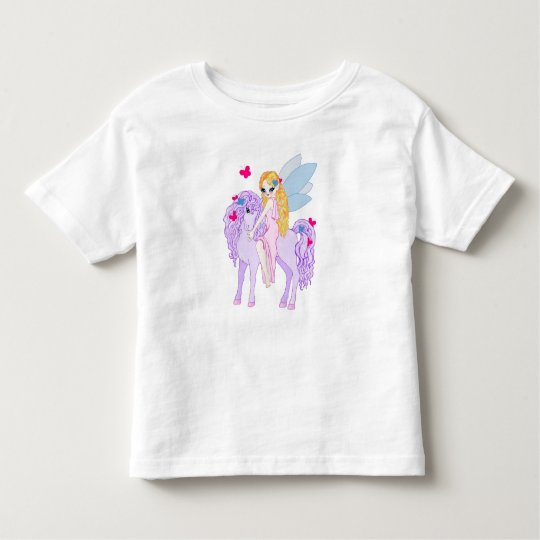 Pink Butterflies & Lavender Pony Toddler T-shirt