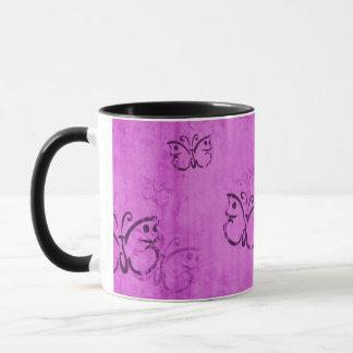 Pink Butterflies Mug