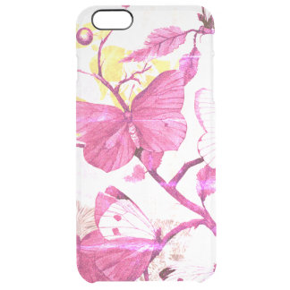 Pink Butterflies on a Branch Clear iPhone 6 Plus Case