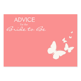 Pink Butterfly Advice for the Bride to Be Cards Business Cards