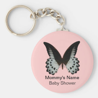 Pink Butterfly Baby Shower Key Chain