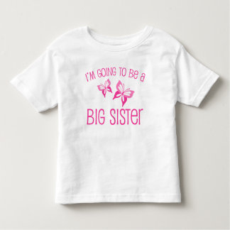 Pink Butterfly Big Sister to Be Toddler T-shirt
