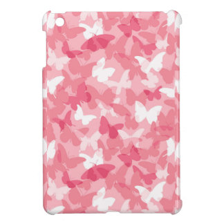 Pink Butterfly Camouflage iPad Mini Cover