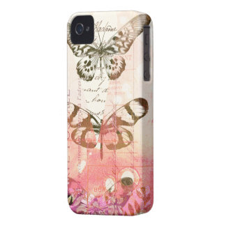 Pink Butterfly Collage iPhone 4 Cover
