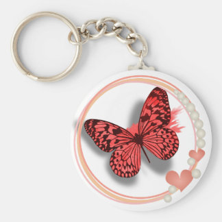 Pink Butterfly & Hearts Pretty Key/bag Chain Keychain