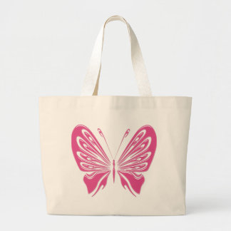 PINK BUTTERFLY LARGE TOTE BAG