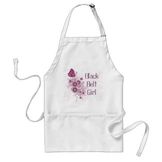 Pink Butterfly Martial Arts Black Belt Girl Apron