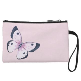 Pink Butterfly Mini Clutch