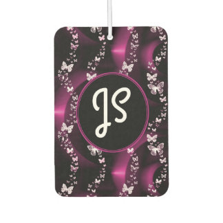 Pink Butterfly Monogramed Air Freshener