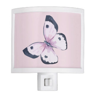Pink Butterfly Nightlight Night Lites