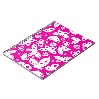Pink Butterfly Notebook