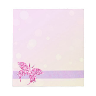 Pink Butterfly Notepad