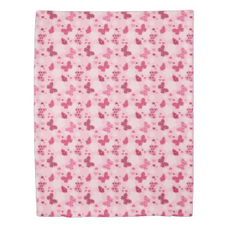 Pink butterfly pattern Duvet cover
