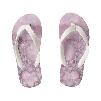 Pink Butterfly Pattern Fractal Flip Flop