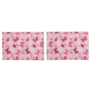 Pink butterfly pattern Pillowcase