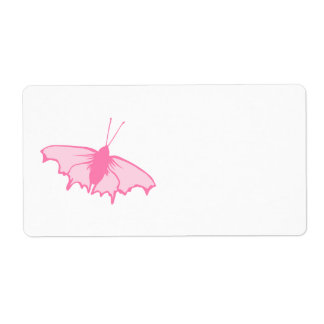 Pink Butterfly Shipping Labels
