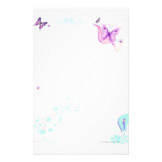 Pink Butterfly Stationary Stationery