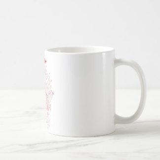 Pink Butterfly Swirls Coffee Mugs