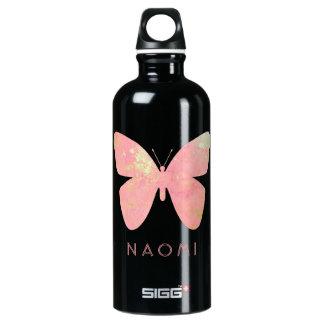 Pink Butterfly Water Bottle