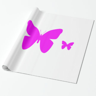 Pink Butterfly Wrapping Paper