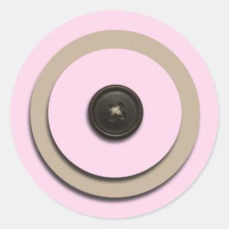 Pink Buttons & Brackets Envelope Seals