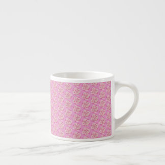 Pink Cabbage Rose Espresso Cup