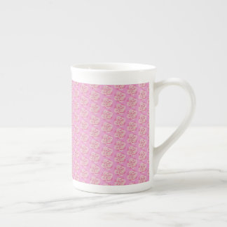 Pink Cabbage Rose Tea Cup