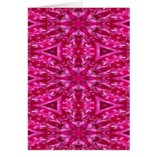 pink cabbage rose triangles  5072 card