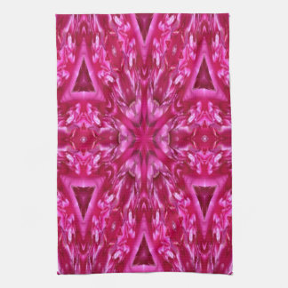 pink cabbage rose triangles  5072 kitchen towels