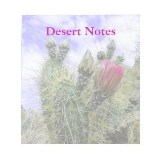 Pink Cactus Flower Customizable Notepad