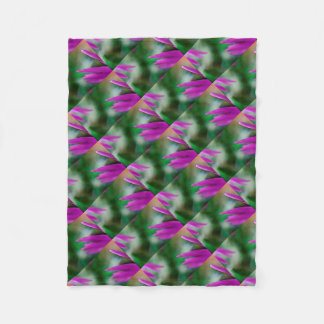 Pink Cactus Petals Fleece Blanket