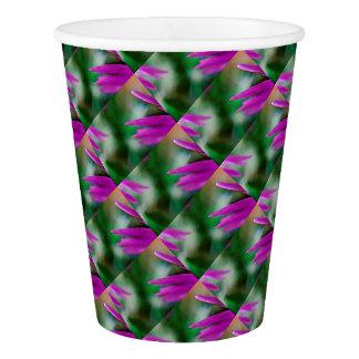 Pink Cactus Petals Paper Cup